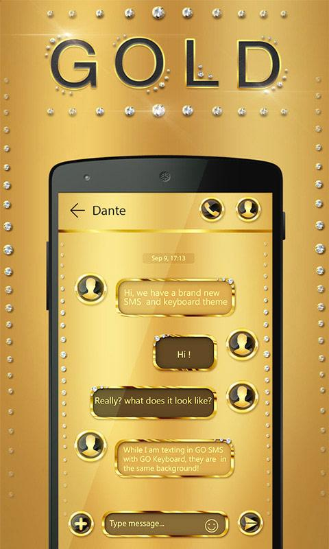 free go sms gold theme 9 60 apk download android personalization apps