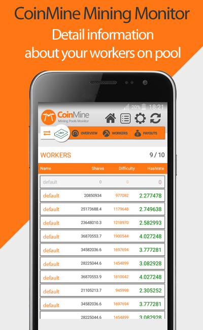 CoinMine Multipool Mining Monitor 1 0 9 APK Download - Android Tools