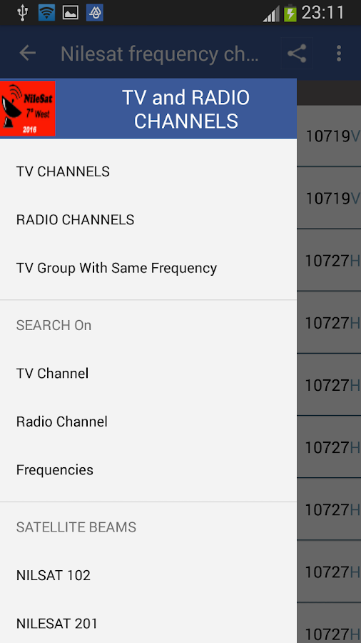 Frequency Channels for Nilesat 3 1 APK Download - Android