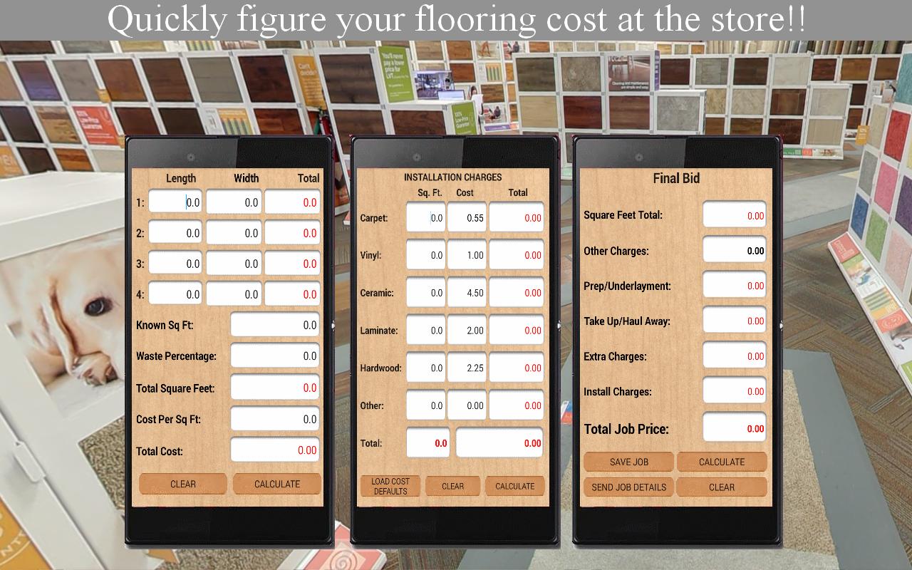 Flooring Job Bid Calculator 1.3.1 APK