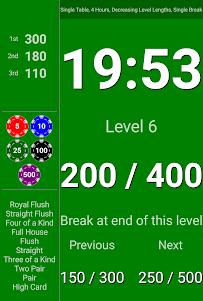 BlindsAreUp! Poker Timer free 2.1 screenshot 7