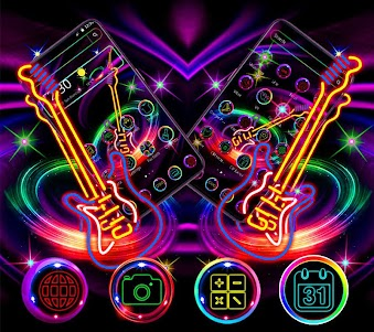 Neon Guitar Theme 1.1.3 screenshot 1