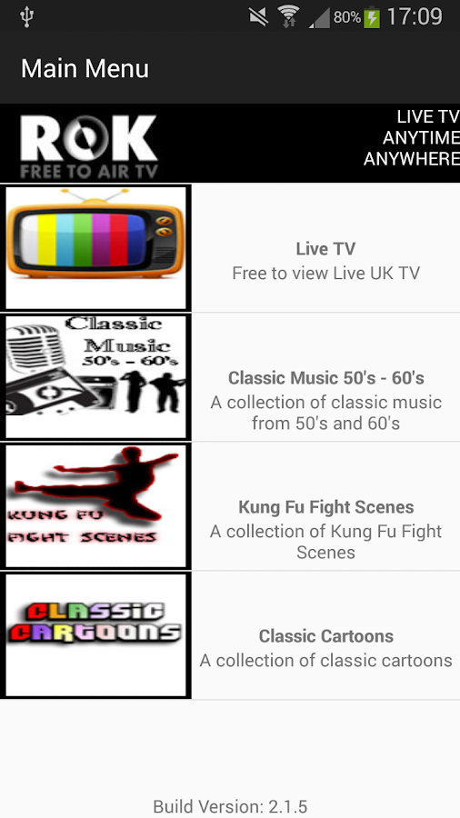 ROK TV - TV That Rocks 1 8 APK Download - Android