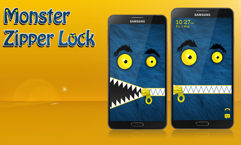 Monster Zipper Lock Screen 1 0 APK Download - Android