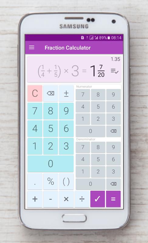Fraction calculator: easy solve fractions problems 1.28 APK Download ...