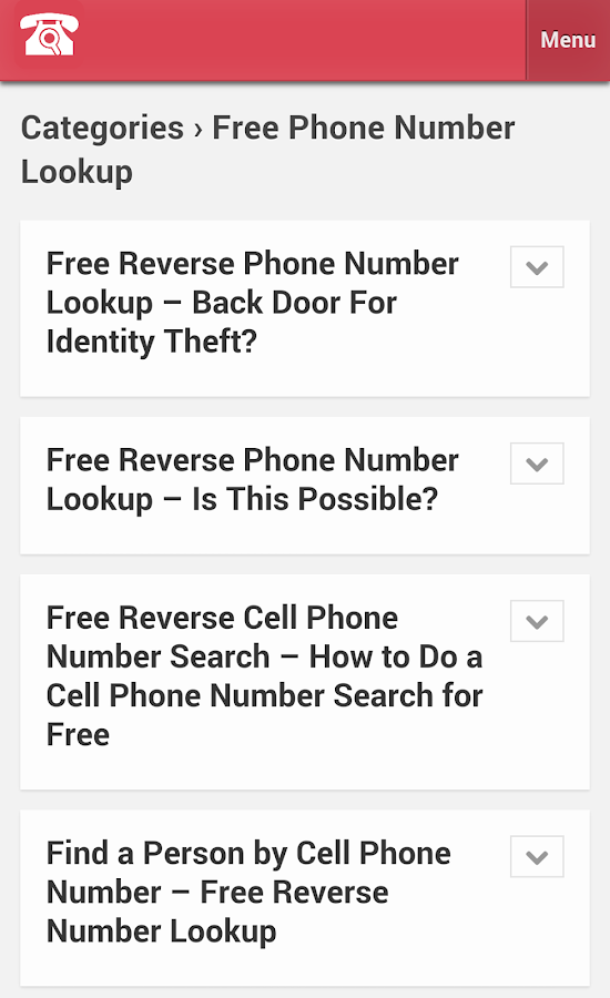 Phone Number Lookup 1 0 APK Download - Android Tools Apps