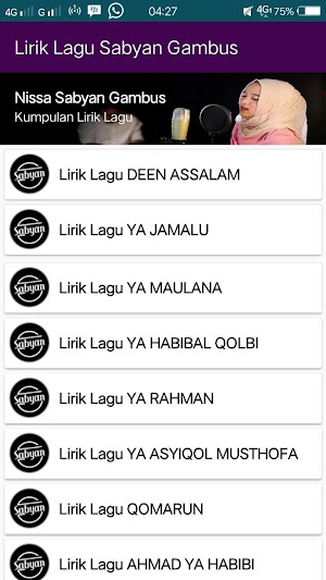 Lirik Lagu Nissa Sabyan 1 0 APK Download - Android Books