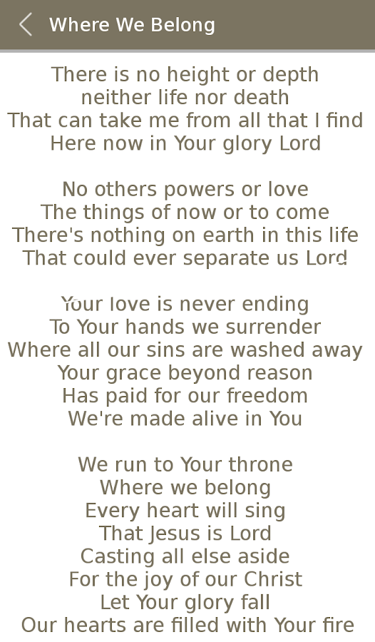 All Hillsong Album Songs Lyric 2 0 APK Download - Android Music