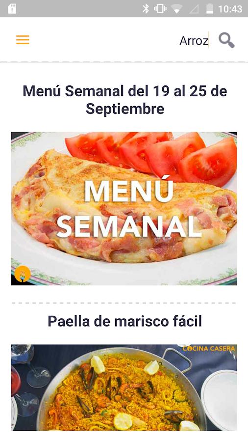 Recetas de cocina casera 5 apk download android for Recetas cocina casera