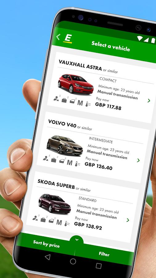 Europcar Car Van Hire 2 6 8 Apk Download Android Travel