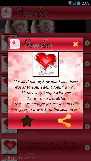 Sweet Love Messages 2016 1 1 APK Download - Android