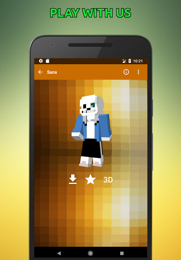 Skins Undertale For Minecraft D APK Download Android - Skin para minecraft pe de sans