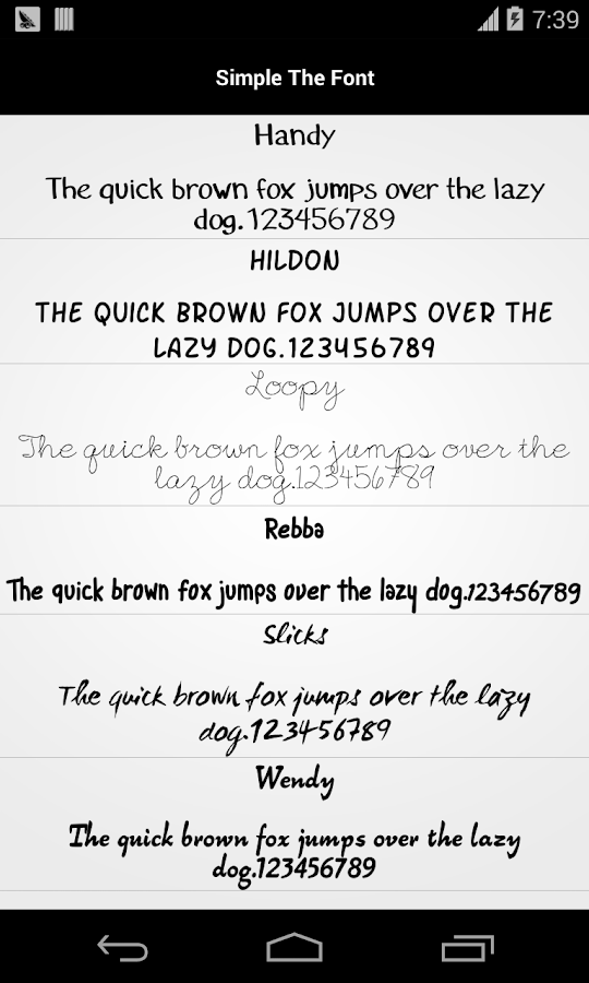 pencil font for flipfont free 1.2 apk download - android