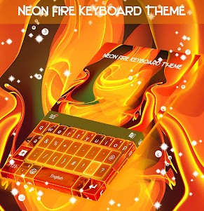 Neon Fire Keyboard Theme 1.279.13.92 screenshot 1