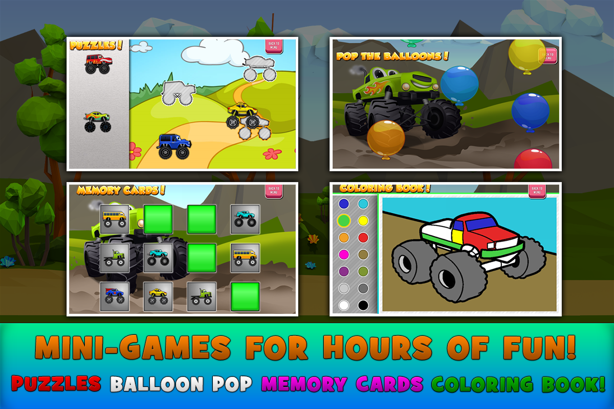Monster Trucks Game for Kids 2 2.5.4 APK Download - Android ...