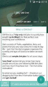 Indian weight loss GM Diet 4.0.5 screenshot 1
