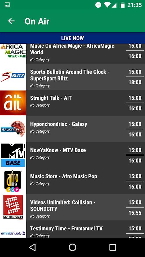 Nigeria TV Today - Free TV Schedule 3 5 APK Download - Android