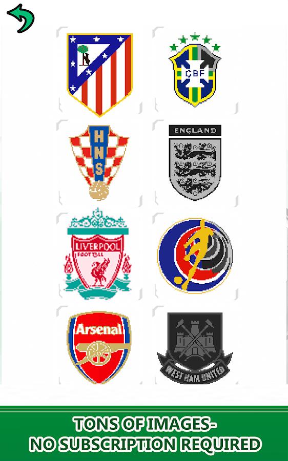 Football Logo Color By Number Pixel Art Nocolor 31 Apk