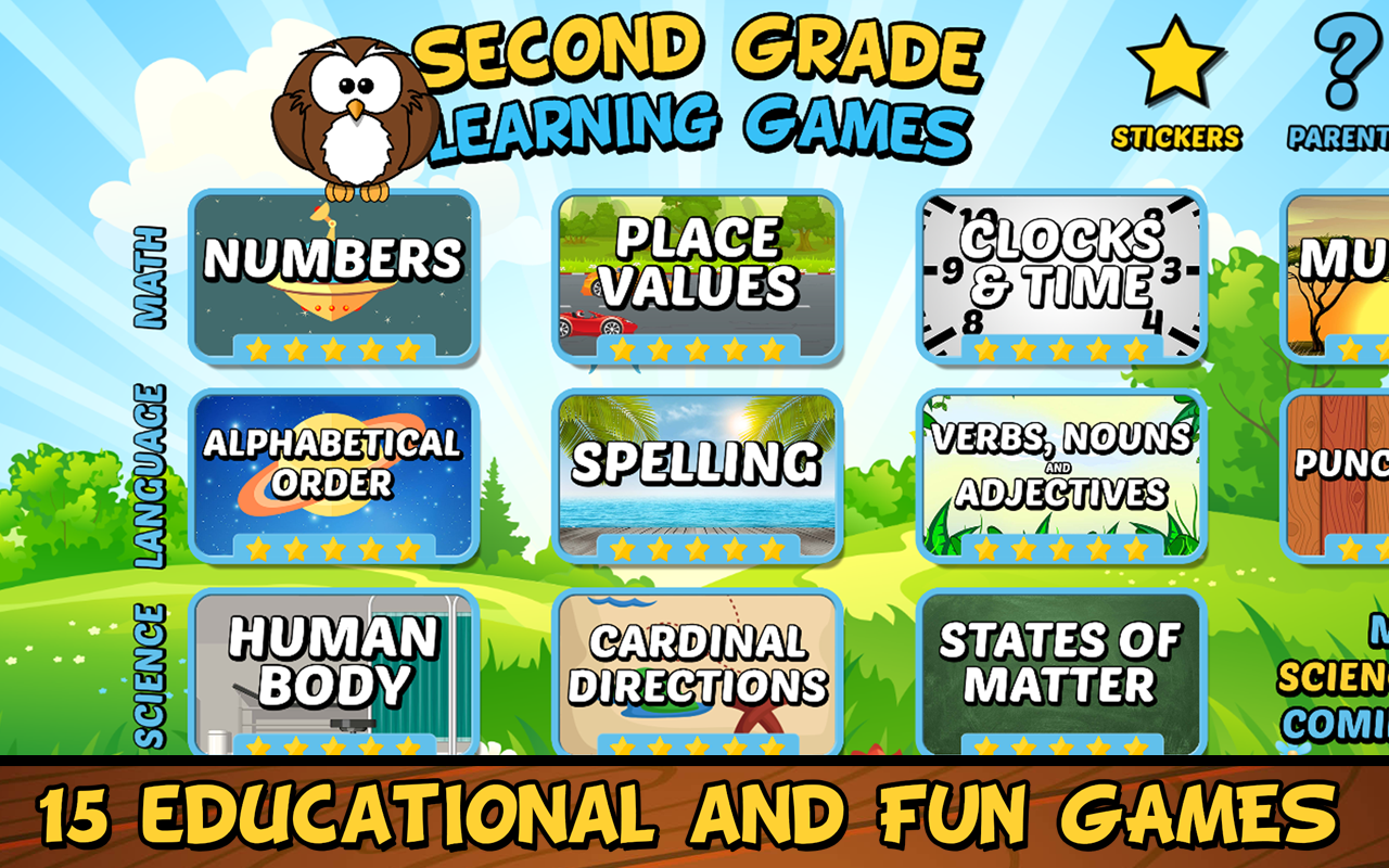 Second Grade Learning Games Free 3.3 APK Download - Android ...