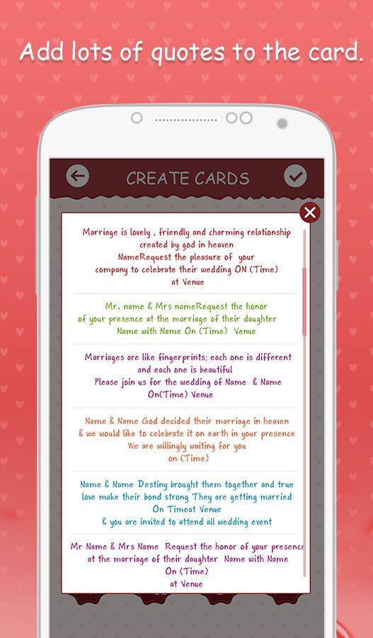 Wedding invitation cards 103 apk download android photography apps wedding invitation cards 103 screenshot 5 stopboris Choice Image