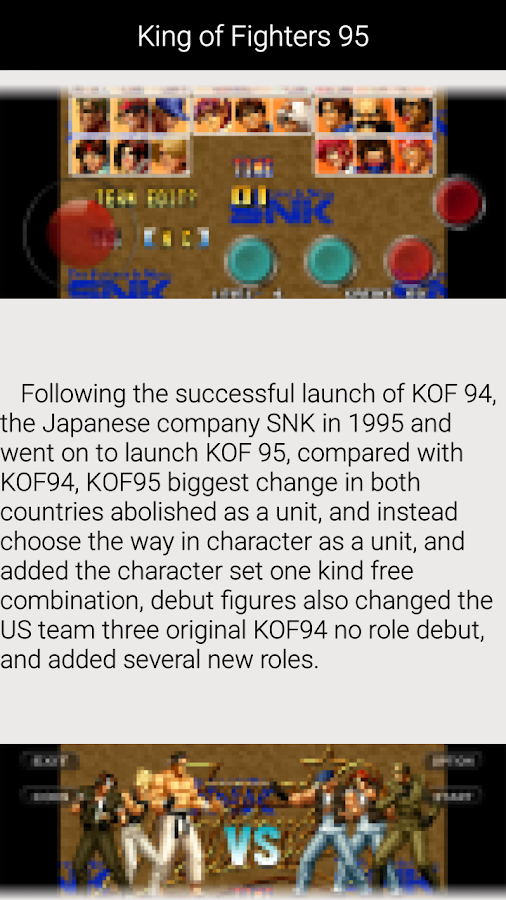 download game the king of fighter 95 android apk