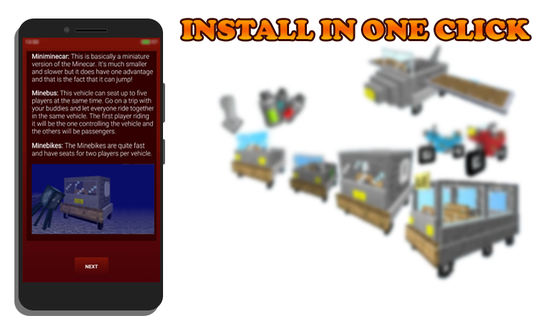 Vanilla Vehicles for MCPE 1 0 APK Download - Android Role