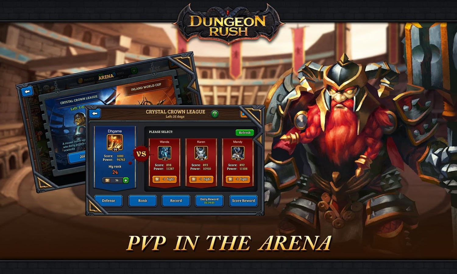 Dungeon Rush apk android, pc et ios