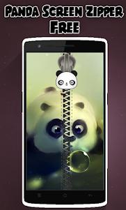 Panda Lock Screen Zipper 1.2 screenshot 1