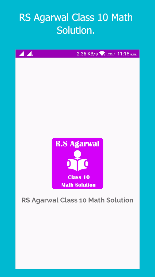 RS Agarwal Class 10 Math Solution 1 0 APK Download - Android
