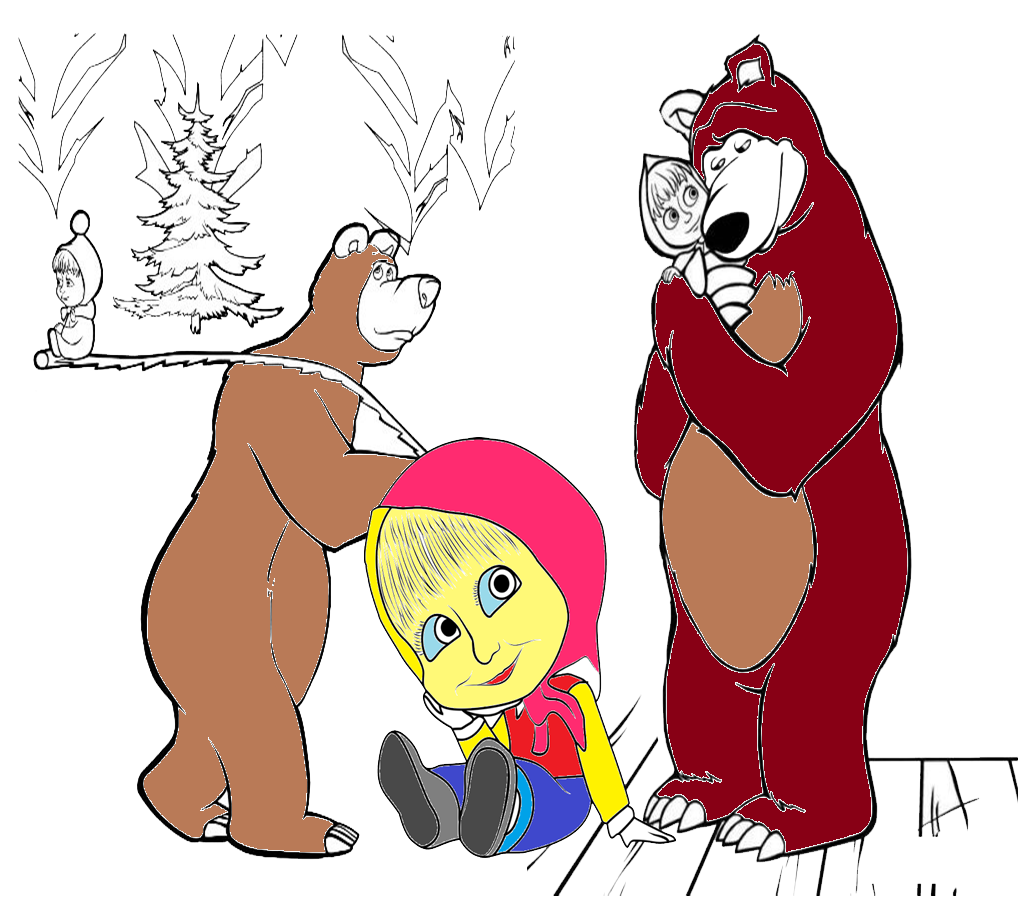 Coloring Page For Masha 1 0 APK Download Android