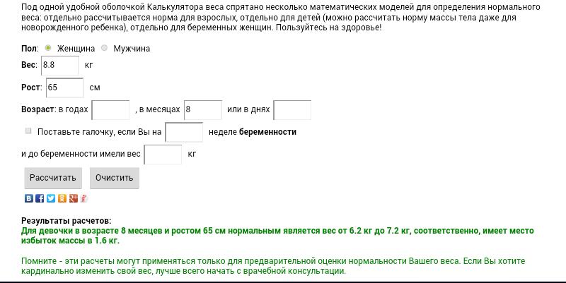 The description of ИМТ Калькулятор