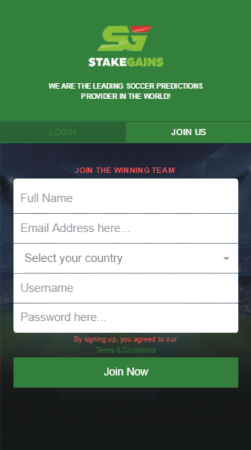 Stakegains - Soccer Prediction 1 1 3 APK Download - Android