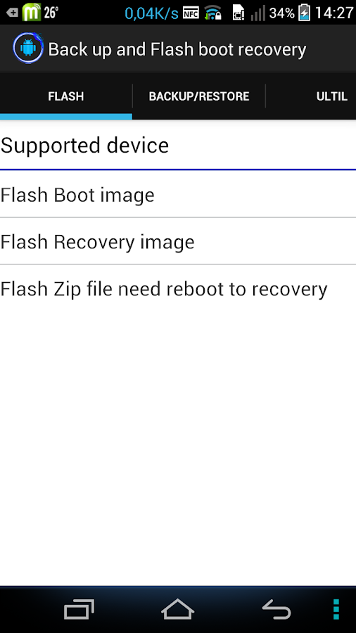 Back up & Flash boot recovery 1 2 12 5 APK Download
