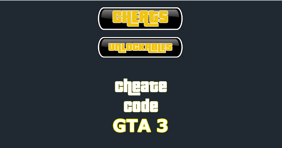 Cheat Codes for GTA 3 1 0 3 APK Download - Android Entertainment Apps