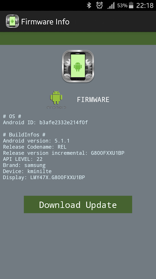 Firmware Info for LG™ 1 5 APK Download - Android Tools Apps