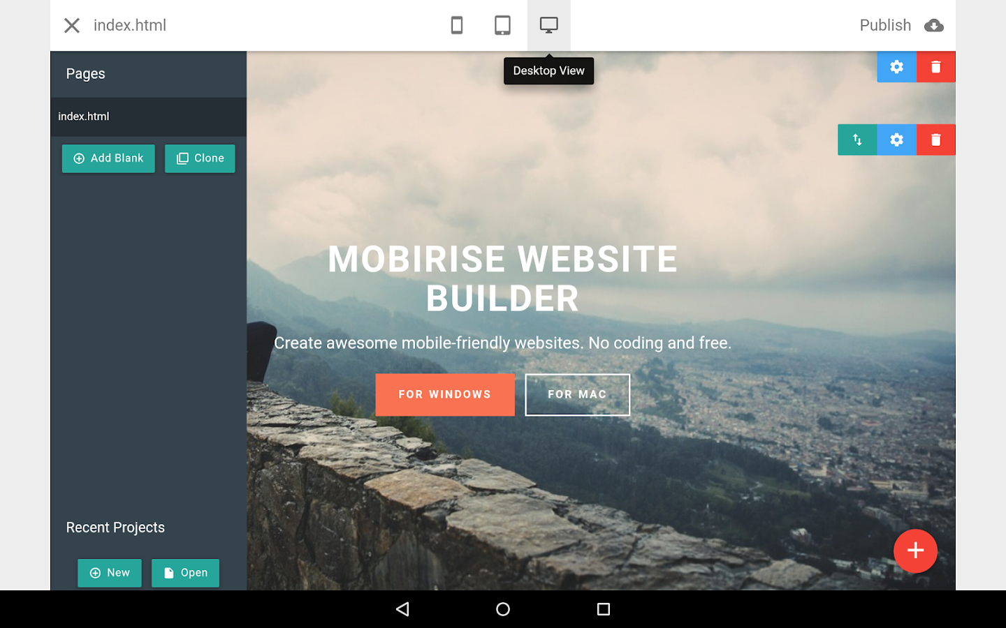 Mobirise Website Builder 1 8 Apk Download Android