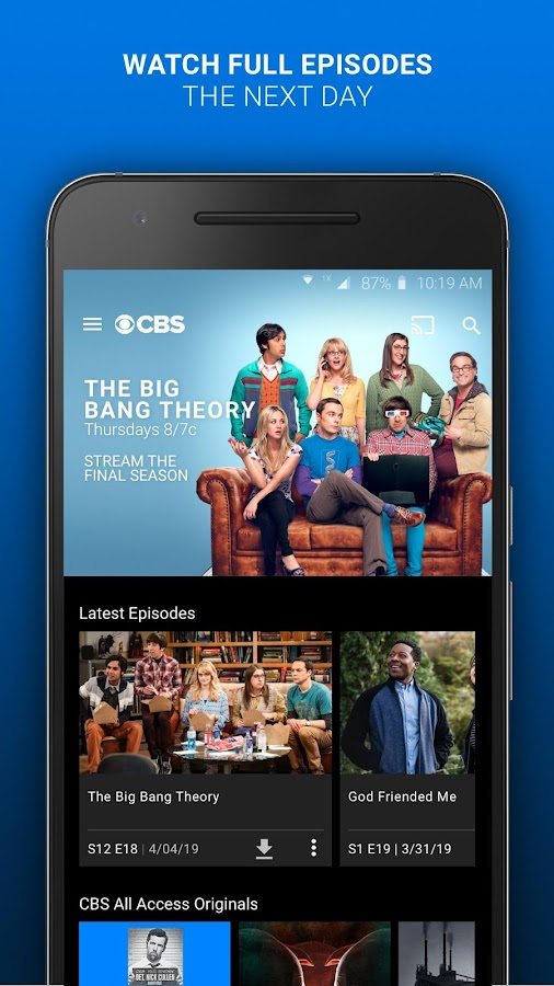 Cbs android app apk download | Download CBS All Access  APK