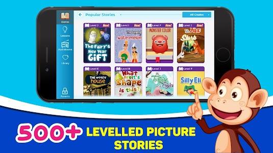 Monkey Stories: books, reading games for kids 2.5.1 screenshot 1