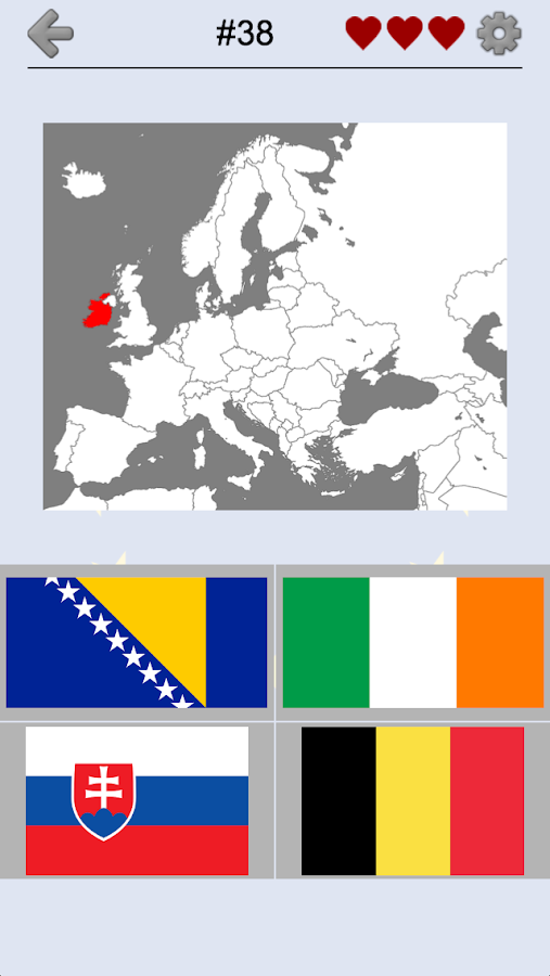 European Countries - Maps, Flags and Capitals Quiz 2 3 APK
