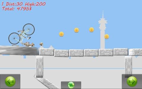 Skeleton Ragdoll Hill Biker 1.08 screenshot 5