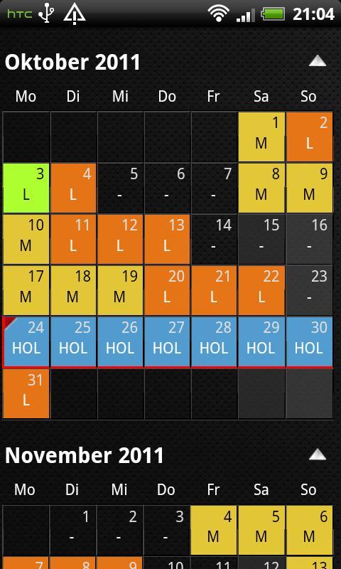 Calendario Android.Shift Calendar 1 7 1 Apk Download Android Tools Apps