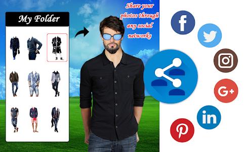 Men Shirt With Tie Photo Suit Maker 1.0.9 screenshot 5