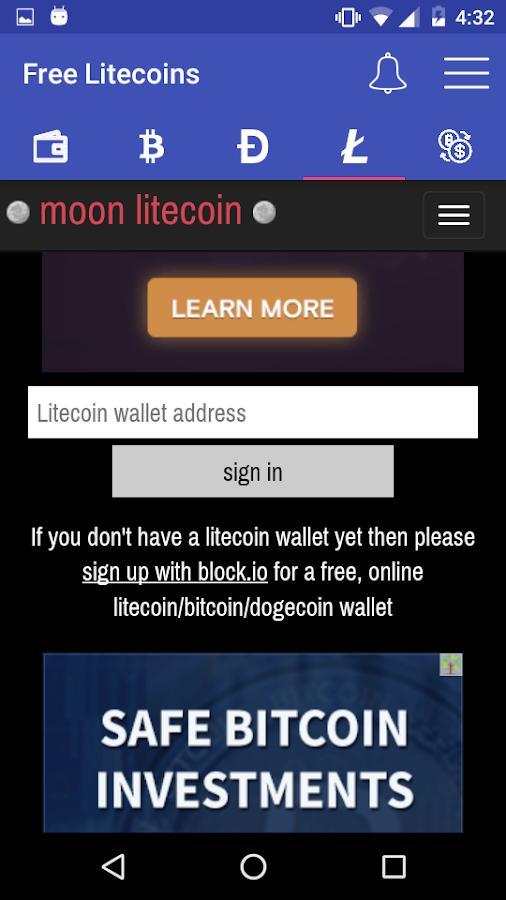 EARN FREE LITECOIN BITCOIN DOGECOIN - EVERY 5 MINS 1 0 4 APK