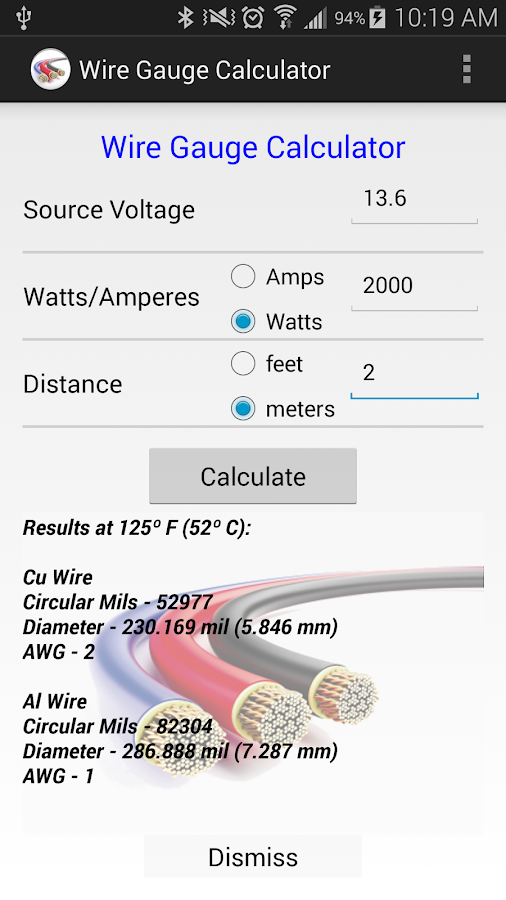 Wire gauge calculator 140 apk download android tools apps wire gauge calculator 140 screenshot 2 keyboard keysfo Gallery
