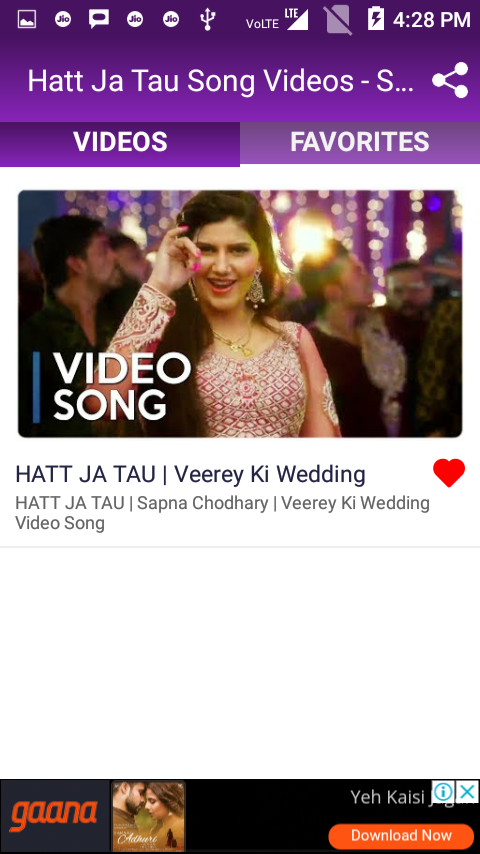 ac3eb2fe579 ... Hatt Ja Tau Song Videos - Sapna Chaudhary 1.7.7 screenshot 5 ...
