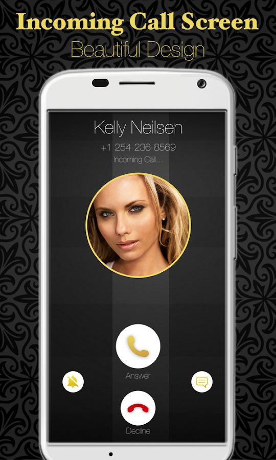 Gold Full Screen Caller Id 1 11 APK Download - Android Communication