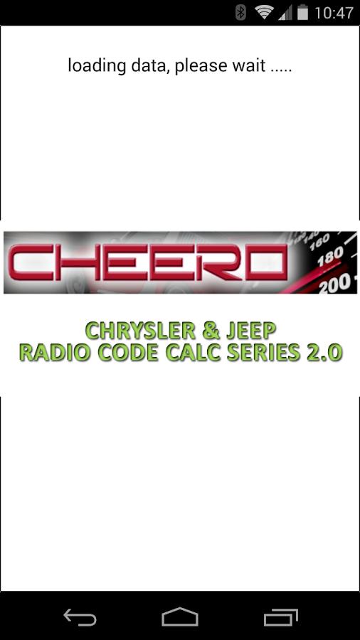 CHRYSLER & JEEP RADIO CODE CALC UCONNECT MYGIG VP4 6 0 0 APK