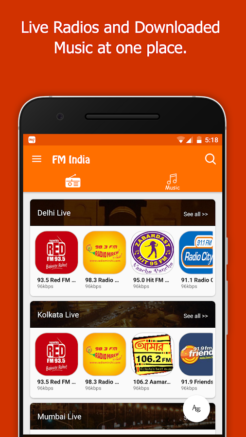 FM Radio India - Live Stations 6 4 5 APK Download - Android
