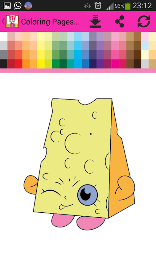 Coloring Book Pages Shopkins 10 Apk Download Android Educational