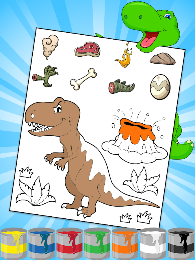Dinosaurs Coloring Pages 116 Screenshot 15